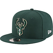 New Era Men's Milwaukee Bucks Green 9Fifty Adjustable Hat