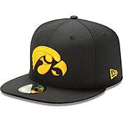 New Era Men's Iowa Hawkeyes Black 59Fifty Fitted Hat