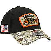 New Era Men's Cincinnati Bengals Salute to Service 39Thirty Black Stretch Fit Hat