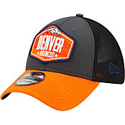 New Era Men's Denver Broncos 2021 NFL Draft 39Thirty Graphite Stretch Fit Hat