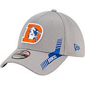 New Era Men's Denver Broncos Sideline 2021 Home 39Thirty Grey Stretch Fit Hat