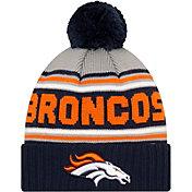 '47 Men's Denver Broncos Navy Cuffed Cheer Knit Beanie