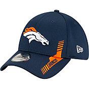 New Era Men's Denver Broncos Navy Sideline 2021 Home 39Thirty Stretch Fit Hat
