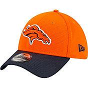 New Era Men's Denver Broncos Sideline 2021 Road 39Thirty Orange Stretch Fit Hat