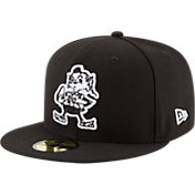 New Era Men's Cleveland Browns Basic Throwback 59Fifty Black Fitted Hat