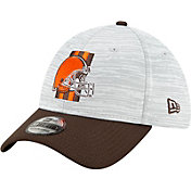 New Era Men's Cleveland Browns Grey Sideline 2021 Training Camp 39Thirty Stretch Fit Hat
