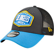 New Era Men's Los Angeles Chargers 2021 NFL Draft 9Forty Graphite Adjustable Hat