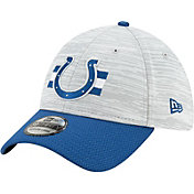 New Era Men's Indianapolis Colts Grey Sideline 2021 Training Camp 39Thirty Stretch Fit Hat