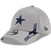 New Era Men's Dallas Cowboys Grey Sideline 2021 Home 39Thirty Stretch Fit Hat
