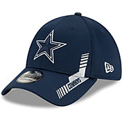 New Era Men's Dallas Cowboys Navy Sideline 2021 Home 39Thirty Stretch Fit Hat