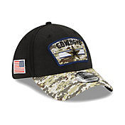 New Era Men's Dallas Cowboys Salute to Service 39Thirty Black Stretch Fit Hat