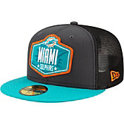 New Era Men's Miami Dolphins 2021 NFL Draft 59Fifty Graphite Fitted Hat