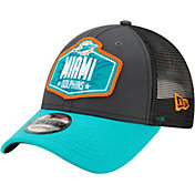 New Era Men's Miami Dolphins 2021 NFL Draft 9Forty Graphite Adjustable Hat