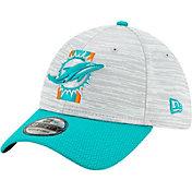 New Era Men's Miami Dolphins Grey Sideline 2021 Training Camp 39Thirty Stretch Fit Hat