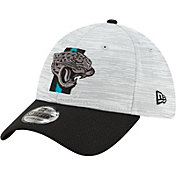 New Era Men's Jacksonville Jaguars Grey Sideline 2021 Training Camp 39Thirty Stretch Fit Hat