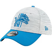 New Era Men's Detroit Lions Grey Sideline 2021 Training Camp 39Thirty Stretch Fit Hat