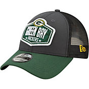 New Era Men's Green Bay Packers 2021 NFL Draft 9Forty Graphite Adjustable Hat