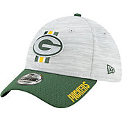 New Era Men's Green Bay Packers Grey Sideline 2021 Training Camp 39Thirty Stretch Fit Hat