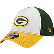 New Era Men's Green Bay Packers Team Neo 39Thirty White Stretch Fit Hat