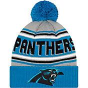 '47 Men's Carolina Panthers Black Cuffed Cheer Knit Beanie