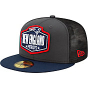 New Era Men's New England Patriots 2021 NFL Draft 59Fifty Graphite Fitted Hat