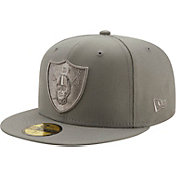 New Era Men's Las Vegas Raiders Color Pack 59Fifty Grey Fitted Hat