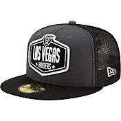 New Era Men's Las Vegas Raiders 2021 NFL Draft 59Fifty Graphite Fitted Hat