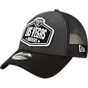 New Era Men's Las Vegas Raiders 2021 NFL Draft 9Forty Graphite Adjustable Hat