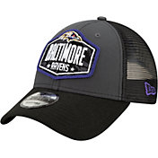 New Era Men's Baltimore Ravens 2021 NFL Draft 9Forty Graphite Adjustable Hat