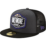 New Era Men's Baltimore Ravens 2021 NFL Draft 59Fifty Graphite Fitted Hat