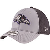 New Era Men's Baltimore Ravens Grayed Out Neo 39Thirty Stretch Fit Hat