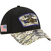 New Era Men's Baltimore Ravens Salute to Service 39Thirty Black Stretch Fit Hat