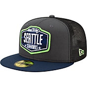New Era Men's Seattle Seahawks 2021 NFL Draft 59Fifty Graphite Fitted Hat