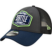 New Era Men's Seattle Seahawks 2021 NFL Draft 9Forty Graphite Adjustable Hat