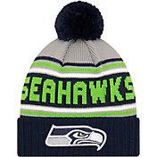 '47 Men's Seattle Seahawks Navy Cuffed Cheer Knit Beanie