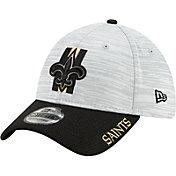 New Era Men's New Orleans Saints Grey Sideline 2021 Training Camp 39Thirty Stretch Fit Hat