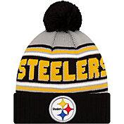 '47 Men's Pittsburgh Steelers Black Cuffed Cheer Knit Beanie