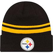 New Era Men's Pittsburgh Steelers Black Cuffed Knit
