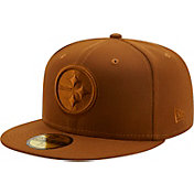 New Era Men's Pittsburgh Steelers Color Pack 59Fifty Peanut Fitted Hat