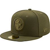 New Era Men's Pittsburgh Steelers Color Pack 59Fifty Olive Fitted Hat