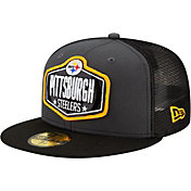 New Era Men's Pittsburgh Steelers 2021 NFL Draft 59Fifty Graphite Fitted Hat