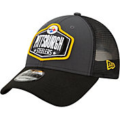 New Era Men's Pittsburgh Steelers 2021 NFL Draft 9Forty Graphite Adjustable Hat