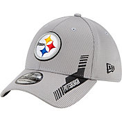 New Era Men's Pittsburgh Steelers Sideline 2021 Home 39Thirty Grey Stretch Fit Hat