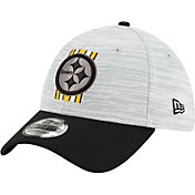 New Era Men's Pittsburgh Steelers Grey Sideline 2021 Training Camp 39Thirty Stretch Fit Hat