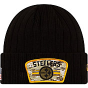 New Era Men's Pittsburgh Steelers Salute to Service Black Knit