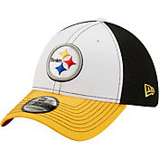 New Era Men's Pittsburgh Steelers Team Neo 39Thirty White Stretch Fit Hat