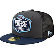 New Era Men's Tennessee Titans 2021 NFL Draft 59Fifty Graphite Fitted Hat