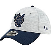New Era Men's Tennessee Titans Grey Sideline 2021 Training Camp 39Thirty Stretch Fit Hat