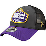 New Era Men's Minnesota Vikings 2021 NFL Draft 9Forty Graphite Adjustable Hat