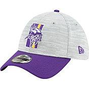 New Era Men's Minnesota Vikings Grey Sideline 2021 Training Camp 39Thirty Stretch Fit Hat